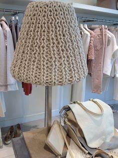 Knit lampshade, blogger, Simone LeBlanc