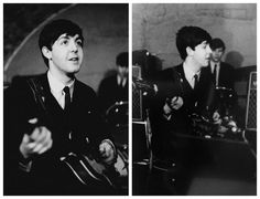 A fresh-faced Paul McCartney at the Cavern club, late 1962.