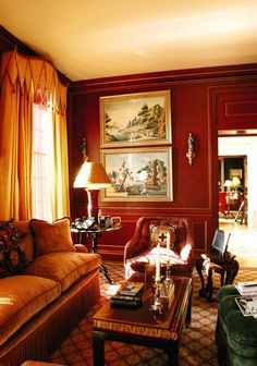 The Television Room at Patricia Kluge estate (design by David Easton)