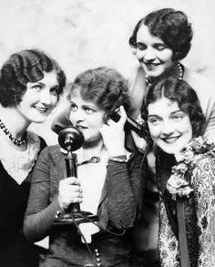 Telephone girls, 1920s. And they kept having telephone operators in a big way through the sixties.
