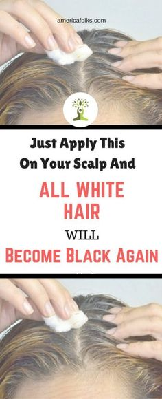 Just Apply This On Your Scalp And All White Hair Will Become Black Again!!!