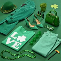 ♣ ♣ ㋡ ❤ Let's get ready to shamrock 'n roll! Cute Pins, Hermes Birkin, Let It Be, Green, Instagram Posts, Bags, Style, Fashion, Handbags