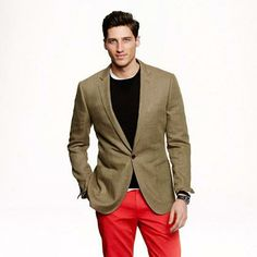 Check out this Ludlow sportcoat in herringbone Italian linen from J.Crew #poachit