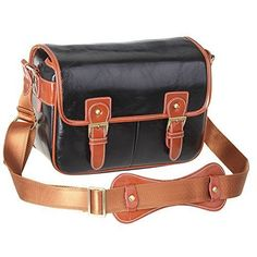 Vintage Leather DSLR Camera Bag Shoulder Messenger Sling Fit DSLR with 2 Lenses for Canon Sony Nikon Canon Olympus and So On