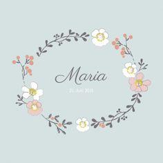 Geburtskarte Blumenkrone by Mr & Mrs Clynk für Geburtskarten.com #Blumen #Geburtskarte #Baby #Geburt