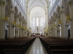 The inside of the Cathedral of Haiti, before the earthquake of 2010 distroyed it.