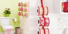 Seu banheiro pode ganhar fôlego novo na decoração com este porta-papel higiênico com latas (Foto: diy-enthusiasts.com)                                                                                                                                                                                 Mais