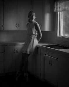 © Sandy Phimester - Large Format 4x5 Speed Graphic, Aero Ektar lens, HP5+ pushed to 1600, v700 scan. Angelia.