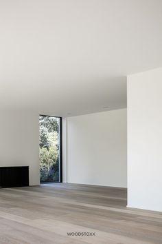 Showroom Design, Interior Design, Kitchen Dining Living, Empty Room, Modern Barn, House Inside, Timber Flooring, Construction, White Walls