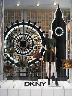 Stylists: DKNY Window Display, London ( merchandising )