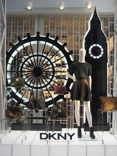 Stylists: DKNY Window Display, London ( merchandising )