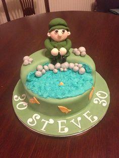 Fisherman 30th birthday cake