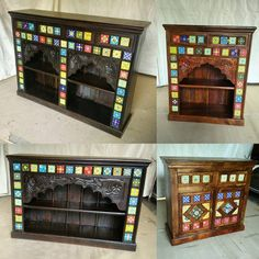 Traditional wooden hand carved ceramic tile fitted furniture ready to send Canad. - Decor Diy Home