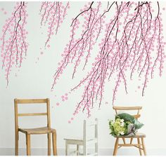 Elegant Cherry Blossom Wall Decal Cherryl by DreamkidDecal on Etsy $53