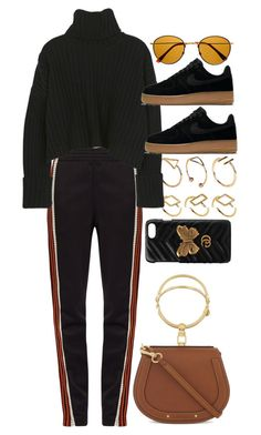 """Untitled #11116"" by nikka-phillips ❤ liked on Polyvore featuring Retrò, ASOS, Wales Bonner, NIKE, Chloé and Gucci"