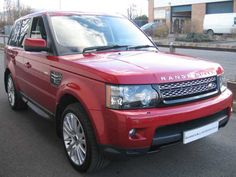 2012 Range Rover Sport 3.0 SDV6 HSE 8-Speed Auto Estate. Diesel. In Firenza Red with Ebony leather interior. This will be my future truck(: