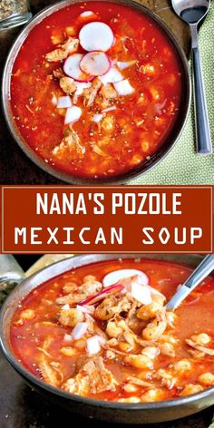 Mexican soup pozole & mexikanische suppe pozole & soupe pozole … – Famous Last Words Mexican Soup Recipes, Chinese Soup Recipes, Mexican Dishes, Pork Recipes, Cooking Recipes, Hominy Recipes, Mexican Appetizers, Mexican Desserts, Cooking Ideas