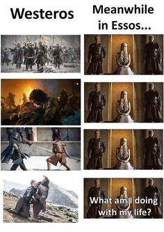 Westeros action verses Essos action... Erm Hmmm... Twiddles thumbs #GameOfThrones #ASOIAF #Westeros #Essos