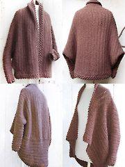 Brown Cuffed Shawl Cardigan crochet pattern 1 cardigan to wear two different ways