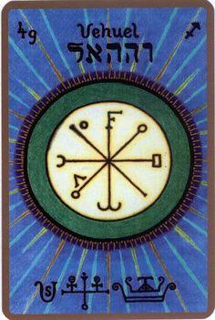 VEHUEL, Le Pur Ange gardien pour une naissance comprise entre le 23 et le 27 novembre Nom divin : MARA Il est le 49eme ange et le 1er ange appartenant au 7eme chœur « Le chœur des Principautés » Il…