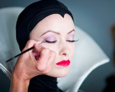 Olivia Wilde being done up for the Disney Dream Portrait series by Annie Leibovitz.