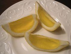 jello shots- lemon drops --- even better than when we had lemon drops. yumm