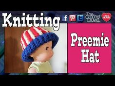 ▶ Round Loom - Knifty Knitter - Loom Knit A Preemie Hat Start TO Finish Tutorial