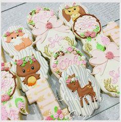 "@sweetsbygigi on Instagram: ""Woodland first birthday set! #custom #custom decoratedcookies #cookies #icing#firstbirthday…"""