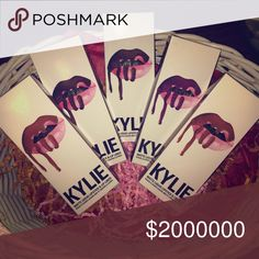 My lip kits for sale Kylie lip kits ❣ TRue brown k, dolce, and kourt// $54 each or on MERC $46 Kylie Cosmetics Makeup