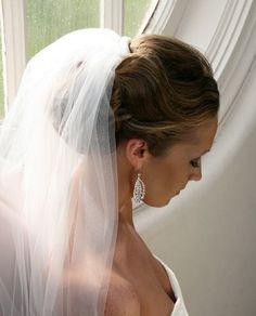 Wedding Hair Bun With Veil