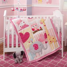 Bedtime Originals Bubblegum Jungle 3 Piece Crib Bedding Set