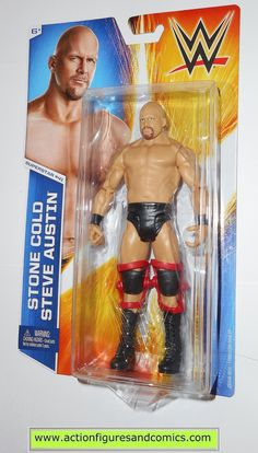 Wrestling WWE STONE COLD STEVE AUSTIN superstar 41 basic 2014 mattel toy action figures moc mip mib Wrestling Superstars, Wrestling Wwe, Figuras Wwe, Wwe Lucha, Austin Stone, Eddie Guerrero, Wwe Toys, Wwe Action Figures, Stone Cold Steve