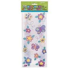 Unique Party Flower Design Cello Party Bags (Pack Of 20) (One Size) (Multicoloured) ** Visit the image link more details.
