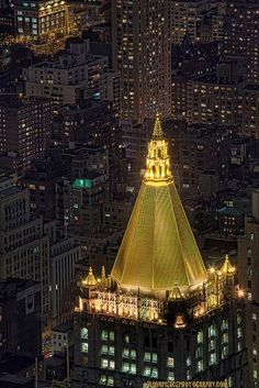 New York Life Building, New York City. At night.it's like flying without a plane.on a rooftop in NYC. Voyage Usa, Voyage New York, Empire State Building, The Places Youll Go, Places To See, New York City, Woolworth Building, Ville New York, New York