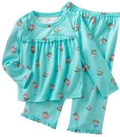 Toddler Girl Carters 2 Piece Pajama Set Size 2T Ballerina | eBay Girls Pjs, Frocks For Girls, Dresses Kids Girl, Kids Outfits Girls, Toddler Girl Outfits, Toddler Fashion, Baby Kids Clothes, Boy Outfits, Kids Fashion