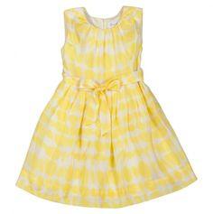 Rachel Riley Polka Dot Silk Tie Dyed Dress
