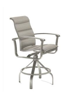 Ovation Padded Sling Swivel Bar Stool | Tropitone