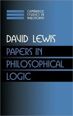 Papers in Philosophical Logic, Volume 1 - by David Lewis : Cambridge University Press, 1997. Cambridge Books Online ebook  - UXSherlock.