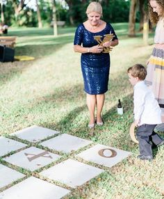12 Ways To Keep It Chic While Entertaining Kids At A Wedding - Tic-tac-toe outdoor yard games for kids and adults