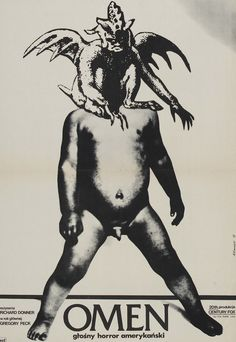 Weird Polish film poster for The Omen (1976)