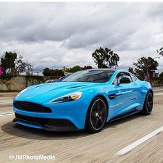 Awesome light blue Aston Martin!