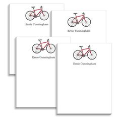 Red Bicycle Mini Notepads