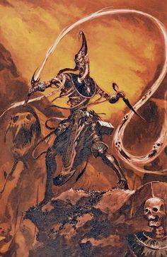 Fantasy Battle, Fantasy Rpg, Medieval Fantasy, Dark Fantasy, Warhammer Tomb Kings, Warhammer 40k Art, Warhammer Fantasy, Fantasy Setting, Necromancer