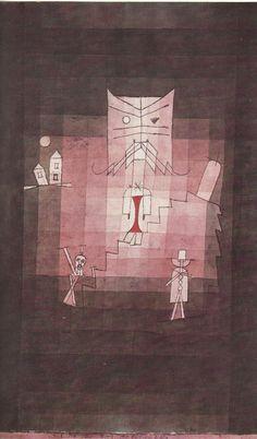 PAUL KLEE Der Berg der heiligen Katze Kunstdruck Farbdruck Art Print 50er Jahre | eBay