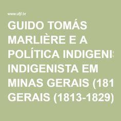 GUIDO TOMÁS MARLIÈRE E A POLÍTICA INDIGENISTA EM MINAS GERAIS (1813-1829)