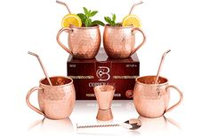 Solid Copper Mugs, Copper Cups, Copper Moscow Mule Mugs, Copper Bar, Copper Decor, Best Moscow Mule, Moscow Mule Cups, Automatic Wine Opener, Copper Handles