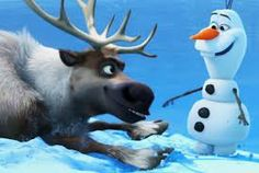 Olaf and Sven from the Disney movie Frozen
