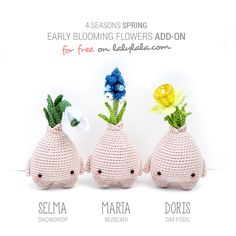 Free pattern spring bulbs