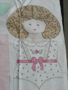"""Adorable Vintage Doll Panel Pattern for 25"""" Fabric Stuffed Doll Mary Jane 