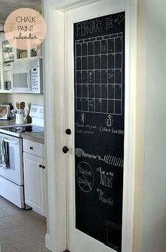 Chalkboard calender door